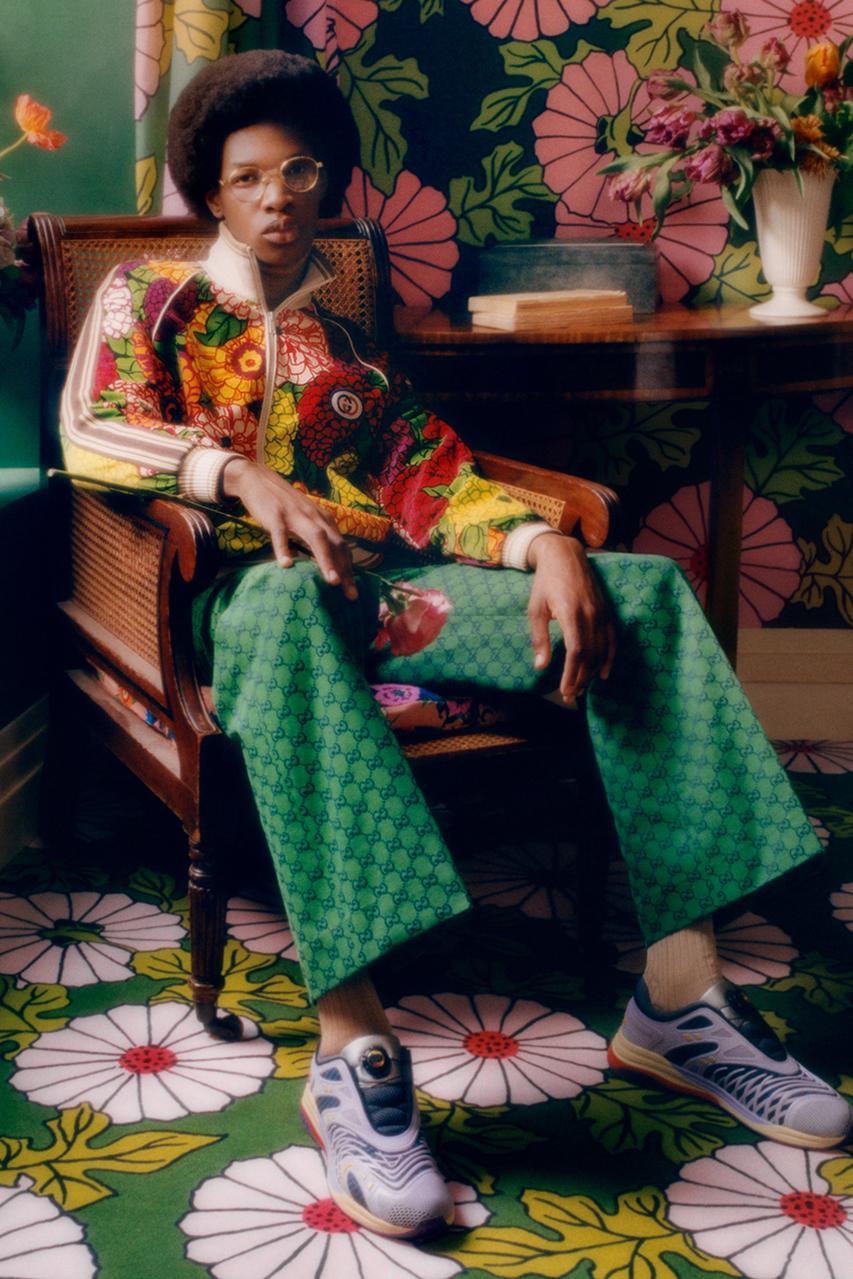 Gucci celebra el trabajo del diseñador Ken Scott con una cápsula floral llena de romanticismo y color