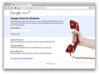 Google Voice for students