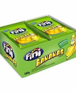Mini Bananas Açucaradas com 12 pacotes de 15g cada - Fini