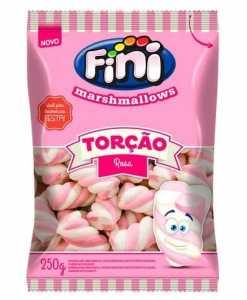Marshmallows Torção Rosa 250g - Fini