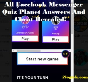 All Facebook Messenger Quiz Planet Answers And Cheat
