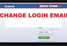 change facebook email address