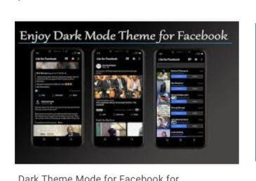 dark mode theme for facebook