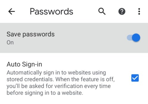 how to see saved passwords in chrome mobile