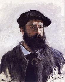 Autoritratto di Monet da giovane