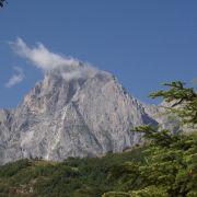 Il Gran Sasso visto dal belvedere di Forca di Valle