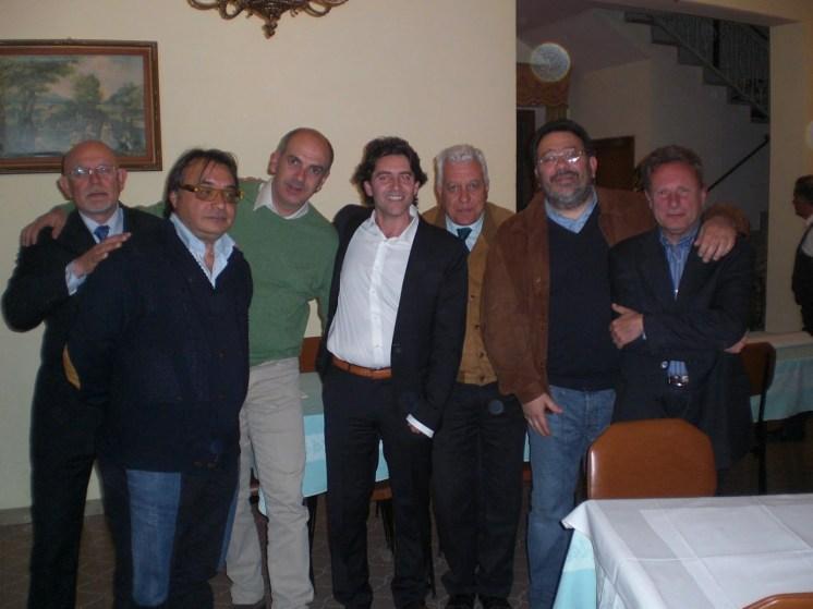 Gli ospiti della serata: Morra, Giuliante, Tancredi