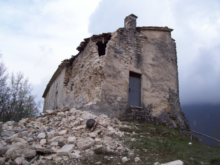 La chiesa prima del sisma del 6 Aprile 2009