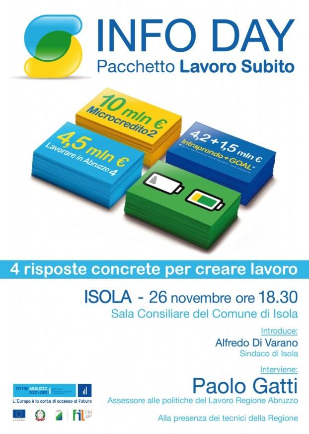 Isola locandina_info day