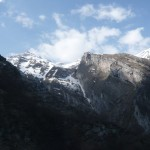 Una visione panoramica del Vallone di Fossaceca