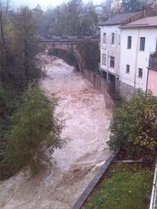 Il fiume Ruzzo nel pomeriggio