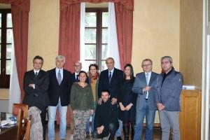 La delegazione dei Giovani Ingegneri nell'incontro che si è svolto in Provincia