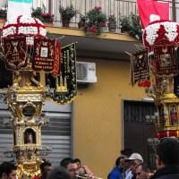 """SS. Fratelli Martiri Alfio, Filadelfo e Cirino - Uscita delle Candelore e """"Sagra delle Musiche"""" - Trecastagni (CT)"""