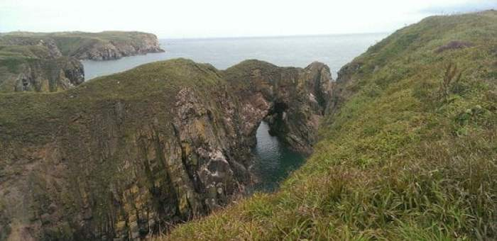 Bullers of Buchan cliff