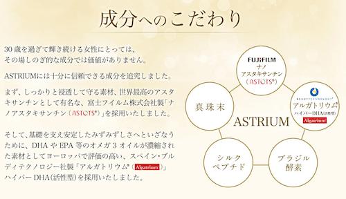 ASTRIUM(アストリウム)成分へのこだわり