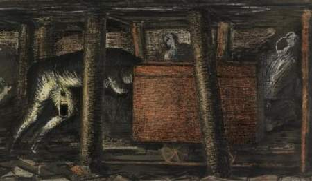 At_the_Coal_Face._A_Miner_Pushing_a_Tub_(1942)_(Art.IWM_ART_LD_2240)