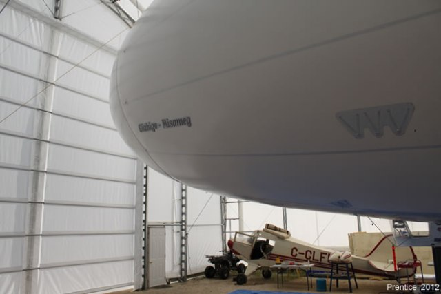 Inflated Airship Inside the BASI Airdock
