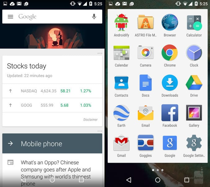 Google-Now-and-Androids-app-drawer