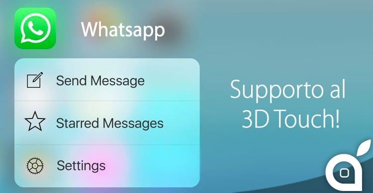 whatsapp 3d touch support