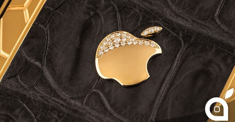 apple logo gold