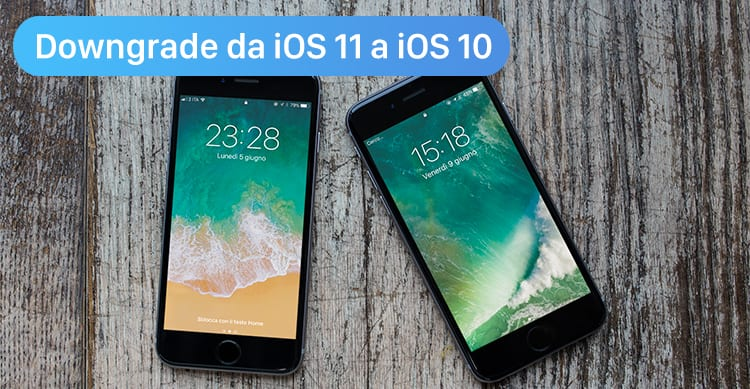 downgrade ios 11 a ios 10
