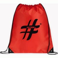 Drawstring bag red