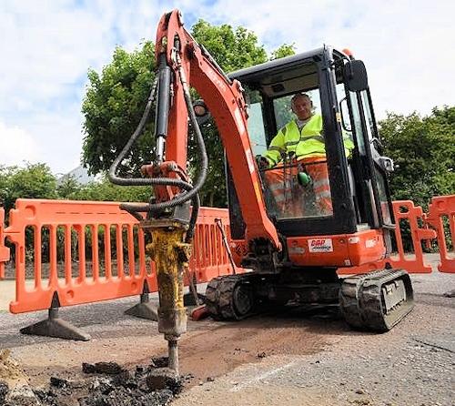 cityfibre street works fibre optic dig