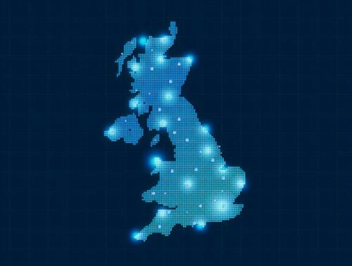 united kingdom binary blue map broadband