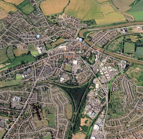 selby north yorkshire uk map