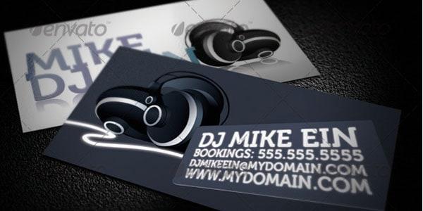 50 dj music business cards  designs
