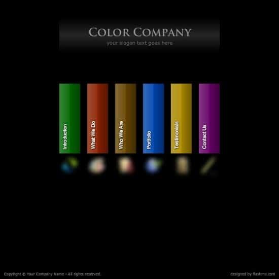20 free flash website templates for download. Black Bedroom Furniture Sets. Home Design Ideas