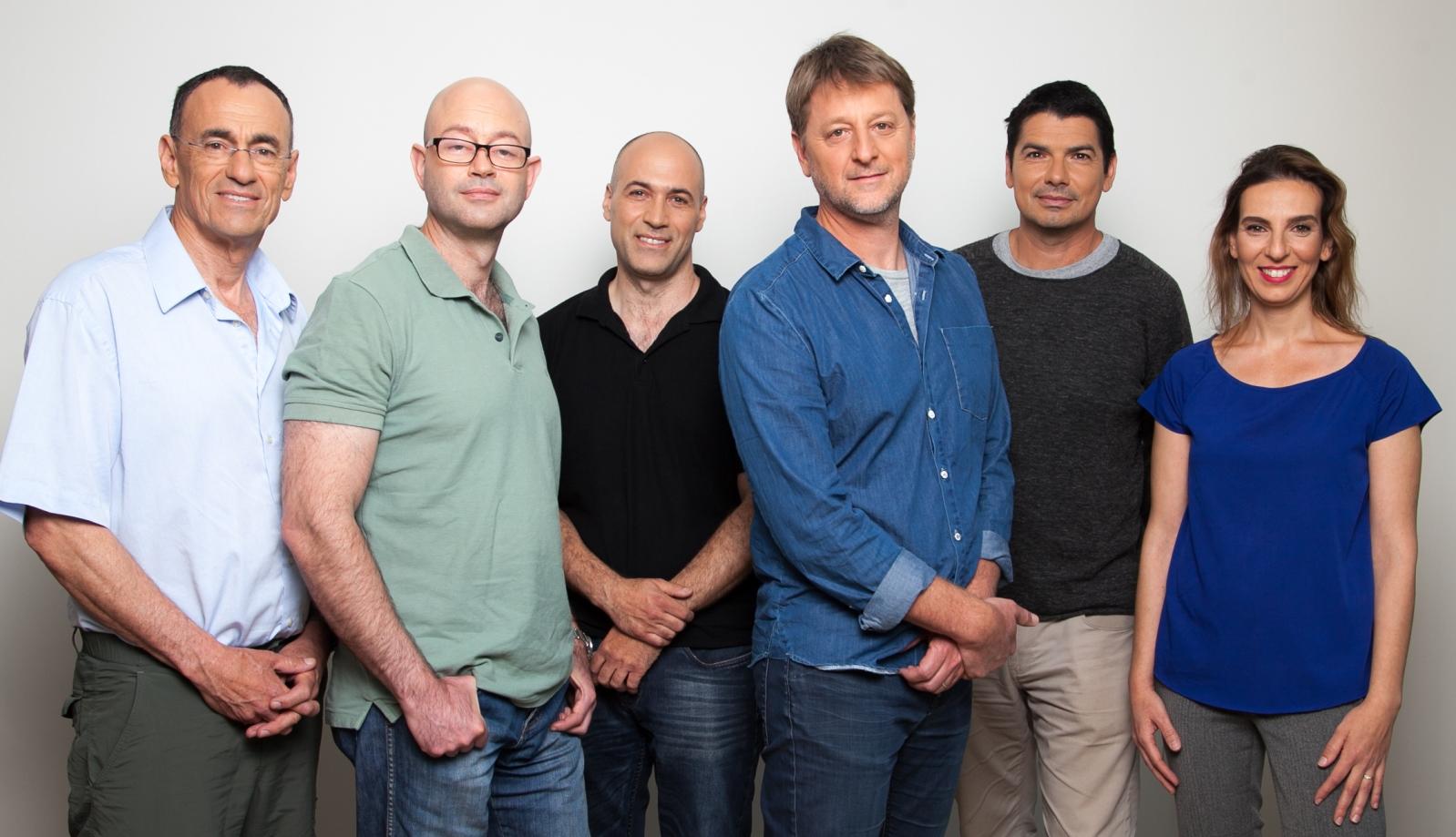 The DeepOptics team, with CEO Yariv Haddad in center. Photo by Noa Zeni