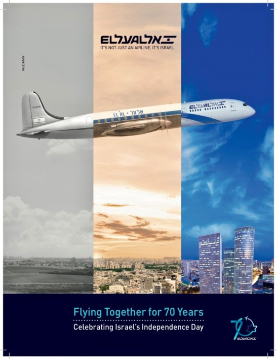 promo code ff2ea 6a5db ... 2018 0418 EL AL Ad for 70th Anniversary of State of Israel  Flying  Togethere for