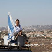 boy israeli flag