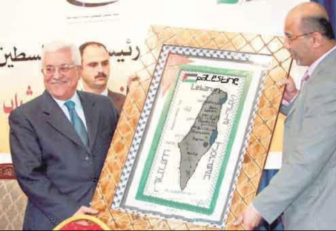 Image result for Abbas holding map showing no Israel