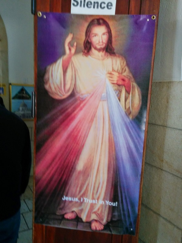 """Jesus says """"Silence"""" in the Church of the Beatitudes"""