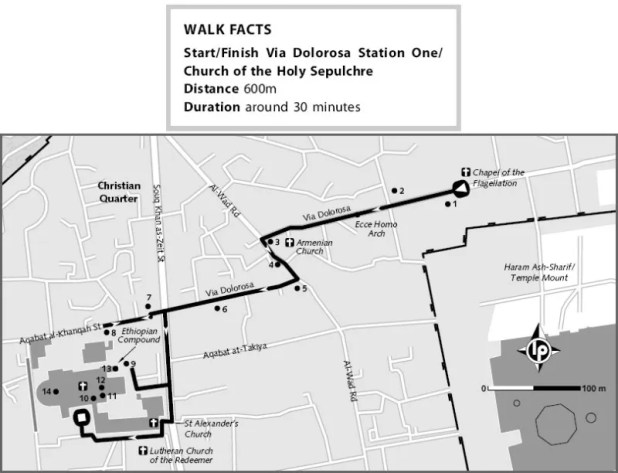 Stations-of-the-cross-path-map - http://travelogue.travelvice.com/israel/old-city-jerusalems-stations-of-the-cross/