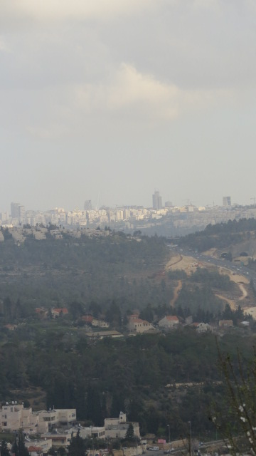 Jerusalem from Our Lady of the Ark of the Covenant - Abu Ghosh