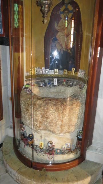 Greek Orthodox St. George Church - stone jar