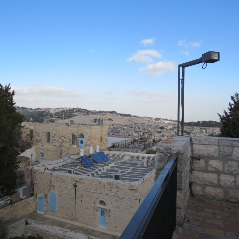 View from the roof of King David's Tomb
