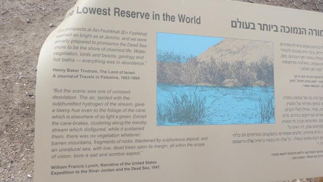 Einot Tzukim Reserve - Ein Feshkha