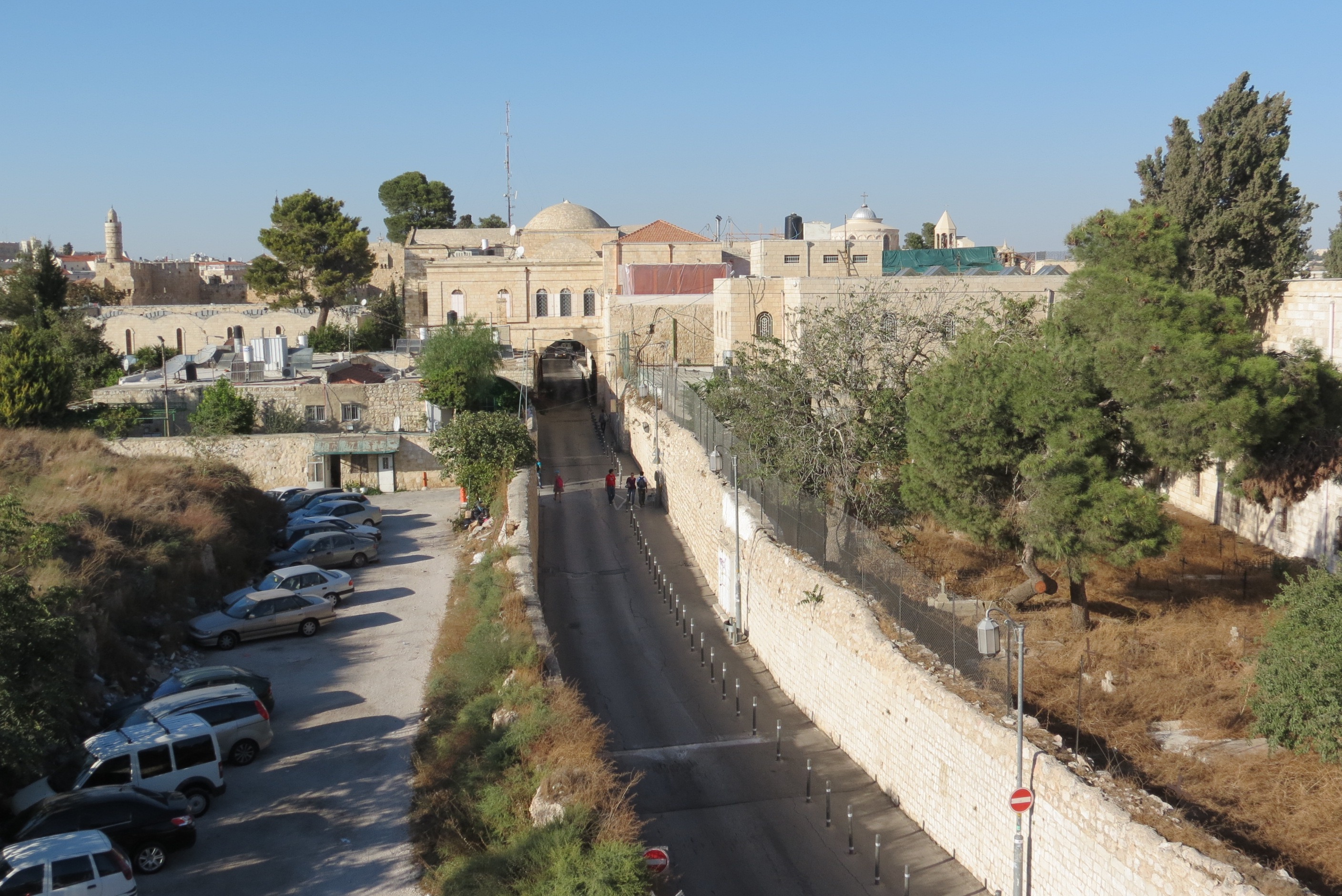 View from Ramparts Walk to Armenian Quarter