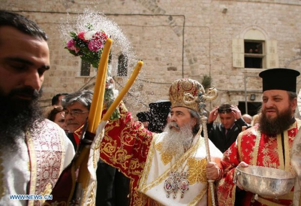Greek Patriarchate Jerusalem - http://news.xinhuanet.com/english/photo/2013-05/03/c_132356534.htm