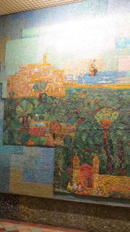 Nahum Gutman's Mosaic Wall - View to Jaffa