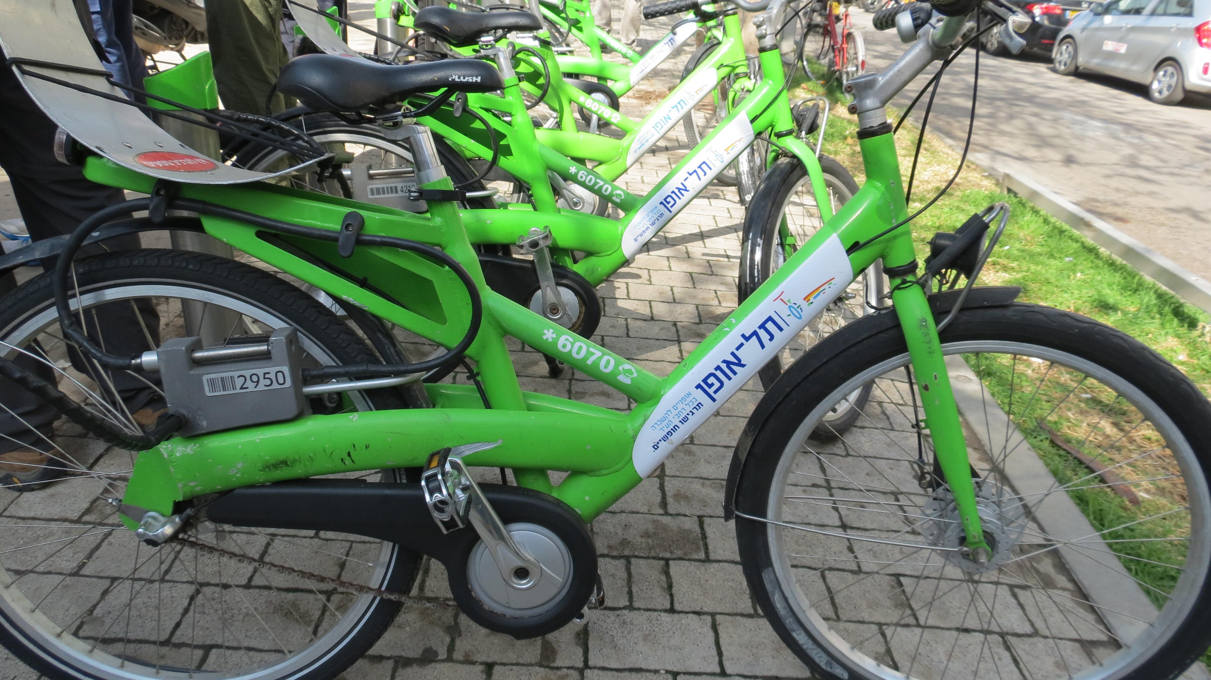 Rothschild Boulevard - bikes for rent