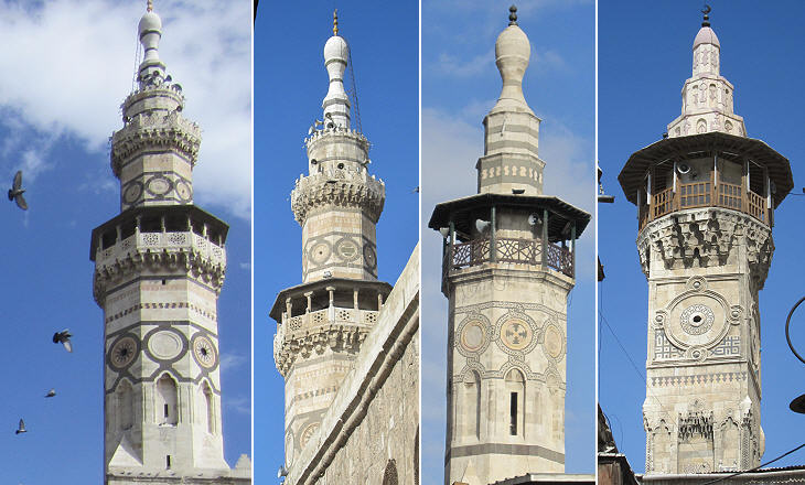 Minarets Damascus
