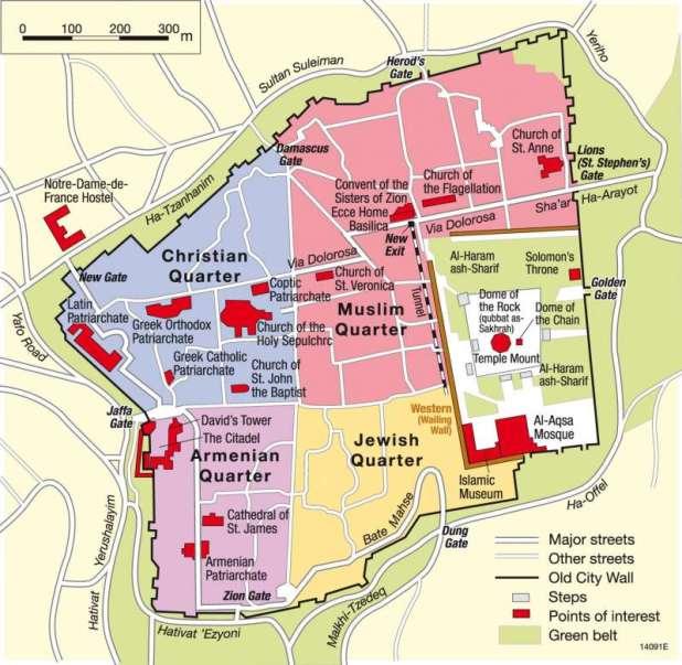 Gates of Jerusalem map