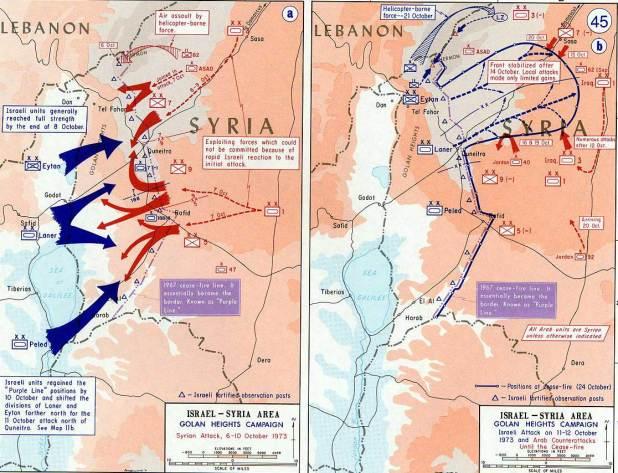 1973 Yom Kippur War-Golan heights theater