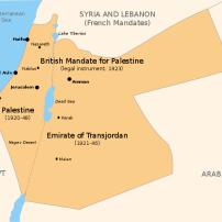 Mandatory Palestine and the Emirate of Transjordan Map: Doron