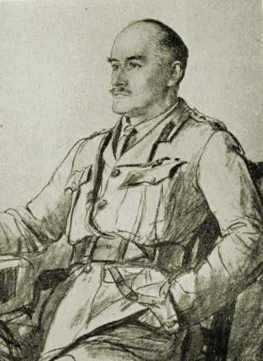 "Drawing of Allenby from journal ""The War"" c. 1917"